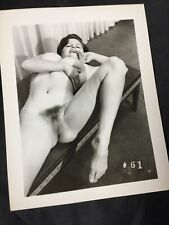 Vtg Original 1950's At Home Unshaven Woman Risque Pinup Spectacular Photo