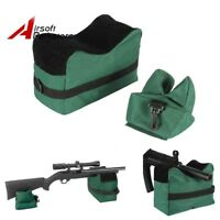 Tactical Hunting Rifle Gun Shooting Target Stand Front Rear Bench Rest Bag Pouch