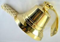 Brass Bell Nautical Vintage Wall Mounted Brass 6 Inches Ship Bell Decor Item