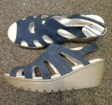 Skechers Cali parallèle Compensé Sandale Avec Mousse à Mémoire en Bleu Marine Taille UK 6.5