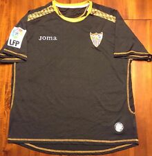 Joma SEVILLA 2008/2009 Third Soccer Jersey Camiseta Spain M Football Shirt Black