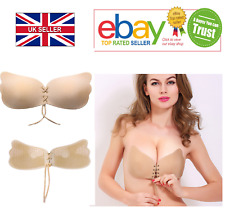 Strapless Invisible Bra Backless Silicone Self Adhesive Stick On Push Up Gel UK