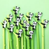 2Pcs Panda Bamboo Neutral Pen Stationery Gifts Office School Gel Pens Supplies