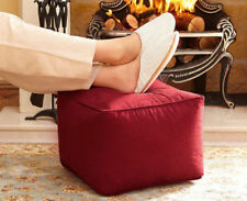 Faux Suede Footstool Footrest Cube Square Pouffe Bean Bag RRP £45.99 Now £17.49