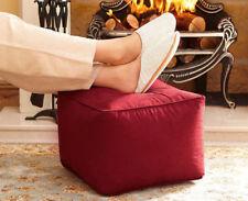 Faux Suede Footstool Footrest Cube Square Pouffe Bean Bag RRP £45.99 Now £16.99
