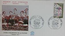 ENVELOPPE PREMIER JOUR - 9 x 16,5 cm - 1970 - FLAMANTS ROSES DE CAMARGUE - N°712