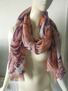 NEW WITH TAGS 'POWDER' SCARF SHAWL MARBLE PRINT LARGE