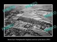 OLD LARGE HISTORIC PHOTO BURTON JOYCE NOTTINGHAMSHIRE ENGLAND AERIAL VIEW 1950 2
