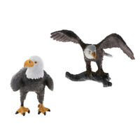 2 Pieces PVC Bald Eagle Animal Model Action Figure Toy Collectible