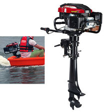 7HP 4-Stroke Outboard Motor Fishing Boat Engine with Air Cooling CDI System USA