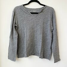 Madewell Woman's Long Sleeves Shirt Gray Medium