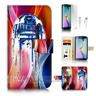 ( For Samsung S7 Edge ) Wallet Case Cover P3904 Starwars BB8 Helmet