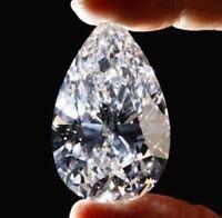White Sapphire 51.58Ct 18x25mm Pear Faceted Cut Shape AAAAA VVS Loose Gemstone