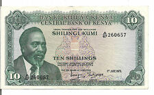 KENYA, 10  SHILLINGS, P#7d,1973