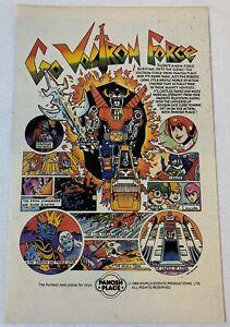 1986 Panosh Place cartoon ad ~ GO VOLTRON FORCE
