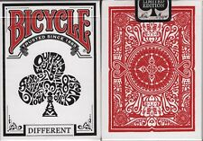 Different White Bicycle Playing Cards Poker Size Deck USPCC Custom Limited