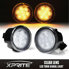 Xprite LED Turn Signal Light Assembly with Clear Lens for 07-17 Jeep Wrangler JK