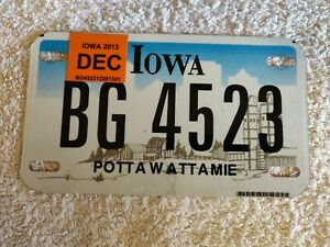 IOWA **CLEARANCE £3.99** ASSORTED MOTORCYCLE USA Genuine Pre-Owned License Plate