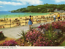 OLD POSTCARD - JERSEY - St Brelades Bay- John Hinde