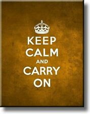 Keep Calm and Carry On Picture on Stretched Canvas, Wall Art Décor, Ready to Han