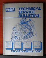 Motor: Technical Service Bulletins 1980-1983 Domestic Cars manual