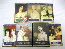 Jane Austen 7 books Pride Sense Emma Persuasion Mansfield + Zombies Sea Monsters