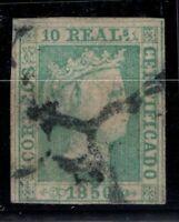 P133199/ SPAIN – ISABELLA II - EDIFIL # 5 USED CERTIFICATE – CV 3600 $