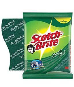 Scotch-Brite Scrub Pad Regular Stain cutters for superior cleaning (5 Pcs)