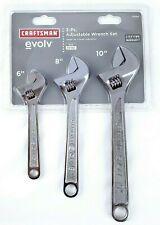 Craftsman 3 Piece Adjustable Wrench Set