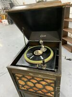 Thomas A. Edison Antique Phonograph W/ 8 Discs Included *Working Condition