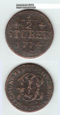 Jülich-Berg Karl Theodor 1742-1799 Cu 1/2 Stüber 1790 Noss 998 stampsdealer