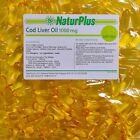 Cod Liver Oil Capsules 1000mg, 360 Capsules, High Strength, Omega 3, NaturPlus
