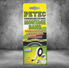 PEtec Mounting Tape 2m Inside and Outside Foam Tape 87122