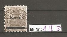 Saargebiet Mi-Nr.: 1 Type II sauber gestempelt Foto Attest Braun.BPP