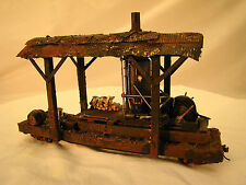 On30 Logging Steam Donkey - custom weathered - metal wheels - lot 2