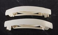 Vintage Hair Barrette White Plastic Spring Clip Clasp Hair Accessories
