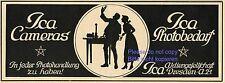 Kamera Ica Reklame von 1920 Dresden Fotoapparat Fotobedarf Werbung Pentagramm ad