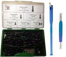 100 teilig  Sortiment Gummiventile Reifenventil TR 412, 413, 414, 418 + Werkzeug