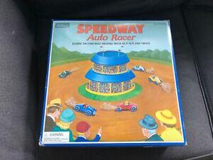 Schylling SPEEDWAY AUTO RACER Tin Litho Wind-Up Toy w/ Box Key Cars UNUSED