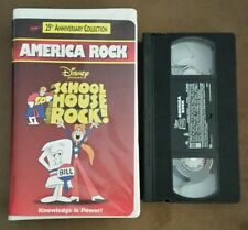 Disney Schoolhouse Rock - America Rock VHS 1998 Clam Shell 25th Anniversary