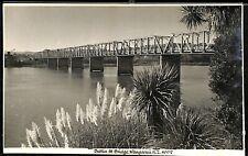 Postcard New Zealand N.Z. Wanganui Dublin St Bridge 4902 Real Photo