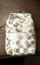 """New Silver Cigarette Case Coin Purse with Key Ring Front Pocket 5"""" Snap Closer"""