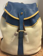 Vintage*Rare*Dooney & Bourke*Full Size*Sherpa*French Blue/Pl Yellow 17333F S56