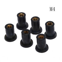 6X M4 Rubber Well Nuts Kayak Accessories Blind Fastener Rivet Fishing Boat RK