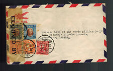 1941 Shanghai China Airmail censored Clipper Cover to CAnada