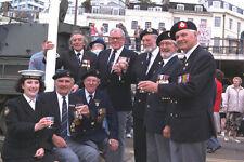 590049 Naval War Veterans V E Day Torquay Harbor A4 Photo Print