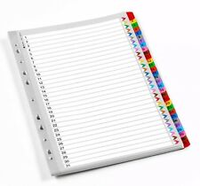 A4 multi couleur mylar 1-31 numéroté index sujet dossier diviseurs wx01522
