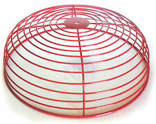 """FIRE ALARM BELL GUARD PROTECTOR WIRE CAGE RED 12"""" Dia"""