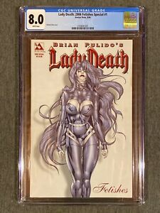 Lady Death : 2006 Fetishes Special #1  Ortiz cover Avatar CGC 8.5