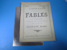 Vintage Cassell's Illustrated Book of Fables La Fontaine #2 by Gustave Dore L982